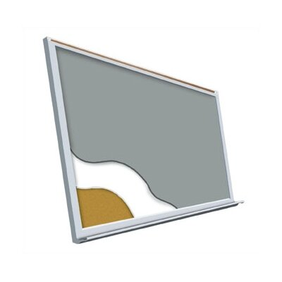 "Best-Rite® Projection Plus - Aluminum Trim 48"" x 144"""