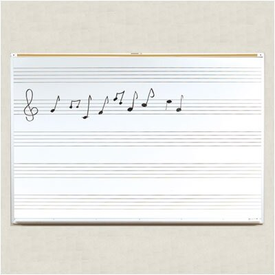 Best-Rite® Porcelain Lifetime Music Boards 4' x 10'