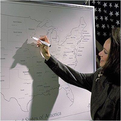 Best-Rite® Porcelain Lifetime Map Boards