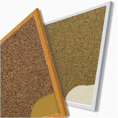 Best-Rite® Splash-Cork Tackboards - Wood Trim