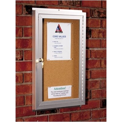 Best-Rite® Standard Bulletin Board Cabinets - 1 Hinged Door