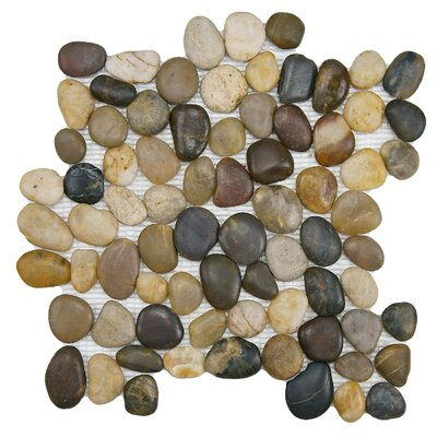 Brook Stone Random Sized Unpolished Natural Stone Mosaic in Multicolored