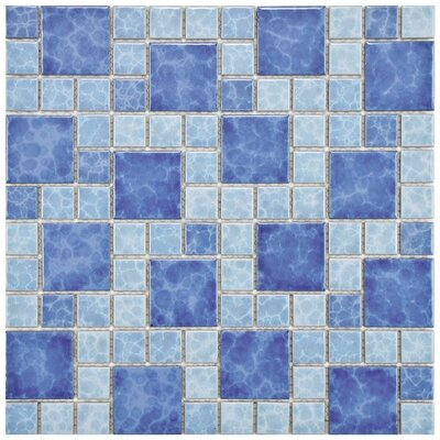 "EliteTile Pool 2"" x 2"" Porcelain Mosaic in Adriatic"