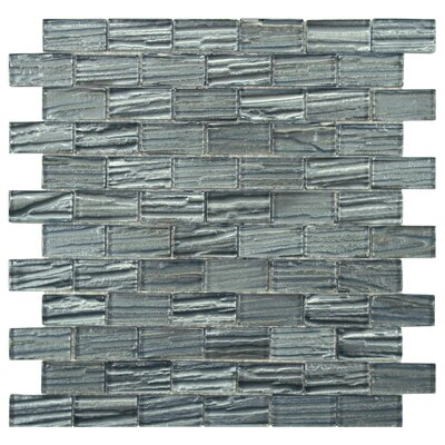 Timber Glass Glass Mosaic Tile in Blue