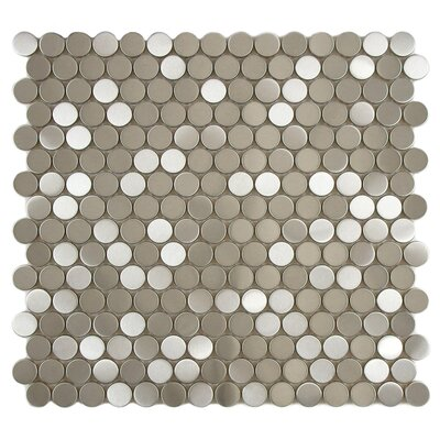 Vulcan Stainless Steel Over Porcelain Mosaic Tile in Silver