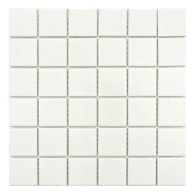 Retro Porcelain Glazed Mosaic Tile in Glossy White