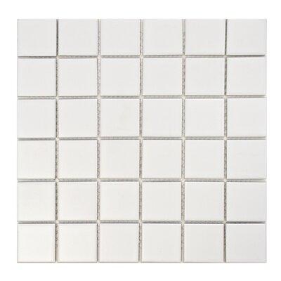 EliteTile Retro Porcelain Glazed Mosaic Tile in Matte White