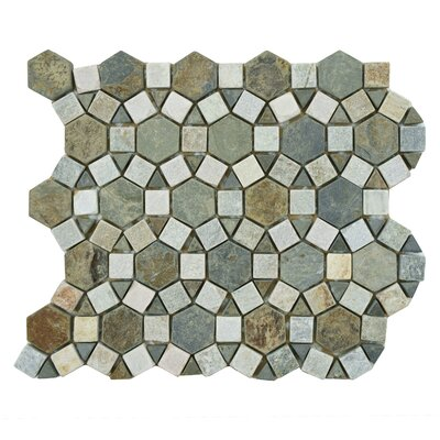 EliteTile Peak Random Sized Natural Stone Mosaic Tile in Multi