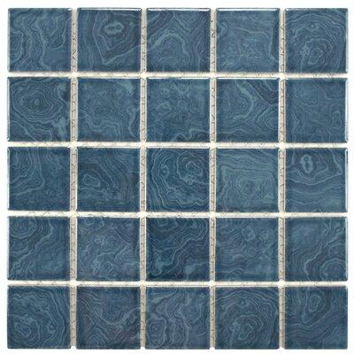 EliteTile Utopia Porcelain Glazed Mosaic Tile in Blue