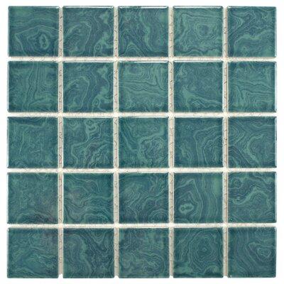 Utopia Porcelain Glazed Mosaic Tile in Green