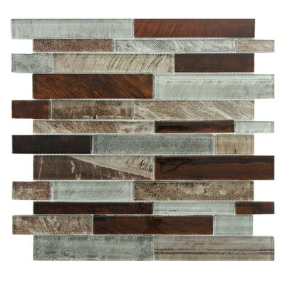 Wildwood Random Sized Glass Mosaic Tile in Birch