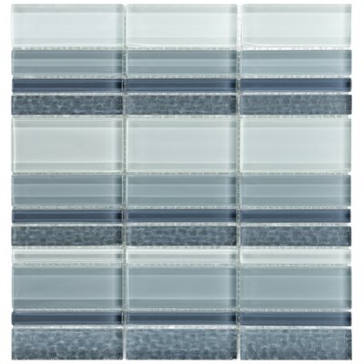 EliteTile Sierra Polished Glass Mosaic in Meridian Cirrus