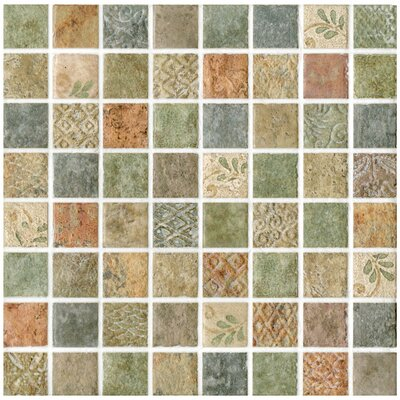 EliteTile Tesselar Glazed Ceramic Mosaic in Lumine