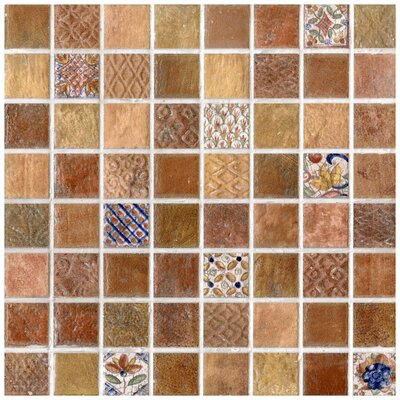 EliteTile Tesselar Valise Glazed Ceramic Mosaic in Earth Tones