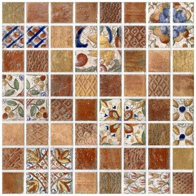 EliteTile Tesselar Valise Glazed Ceramic Mosaic in Earth Tones