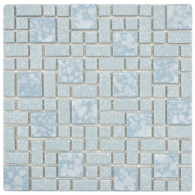 "EliteTile Academy 11-3/4"" x 11-3/4"" Porcelain Mosaic in Blue"