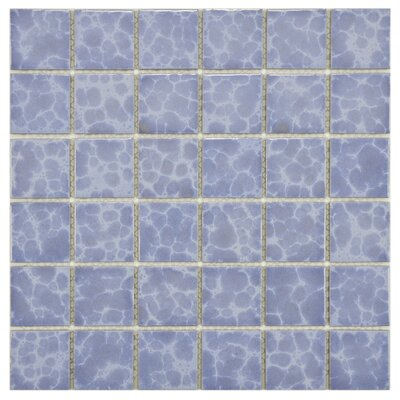 "EliteTile Pool  12-1/4"" x 12-1/4"" Porcelain Mosaic in Alboran"