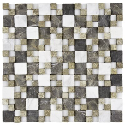 EliteTile Grizelda Random Sized Natural Stone Mosaic in Sand