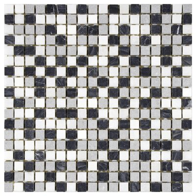 EliteTile Grizelda Mini Natural Stone Mosaic in Charcoal