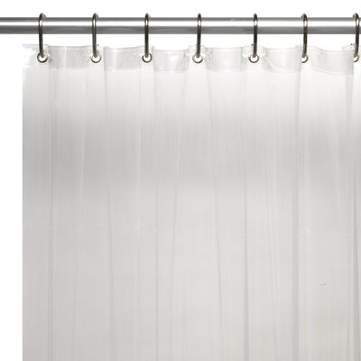 <strong>Carnation Home Fashions</strong> Extra Long 5 Gauge Vinyl Shower Curtain Liner with Metal Grommets