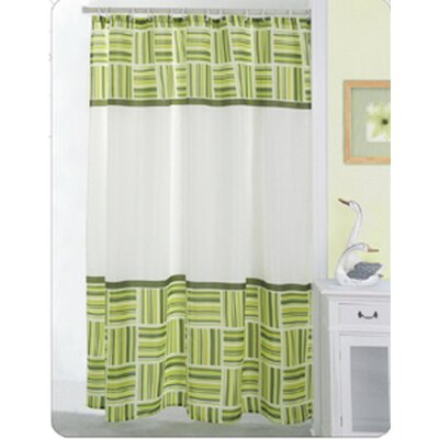 Carnation Home Fashions Caroline 100% Polyester Fabric Shower Curtain