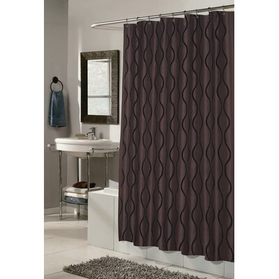 Geneva Polyester Fabric Shower Curtain with Flocking