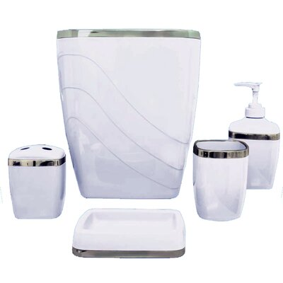 Plastic Bath Accessory Set