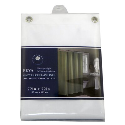 Carnation Home Fashions PEVA Shower Curtain Liner