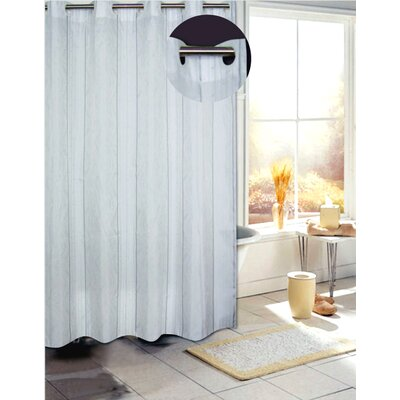 Carnation Home Fashions EZ On Astor Fabric Shower Curtain