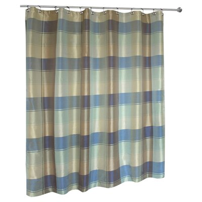 united curtain co plaid polyester shower curtain reviews wayfair