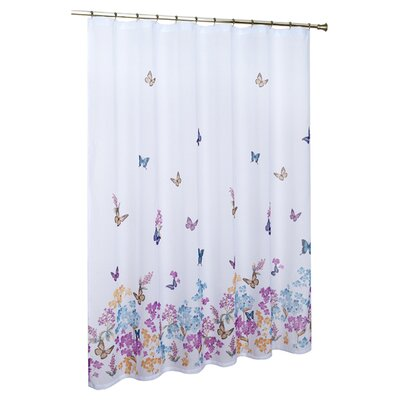 united curtain co butterfly shower curtain reviews wayfair