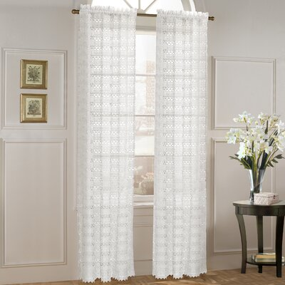 United Curtain Co. Marilyn Panel and Waterfall Valance Set