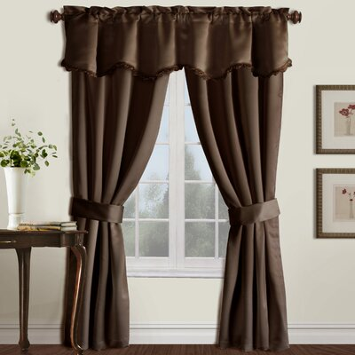 United Curtain Co. Burlington Rod Pocket  Curtain Five Pieces