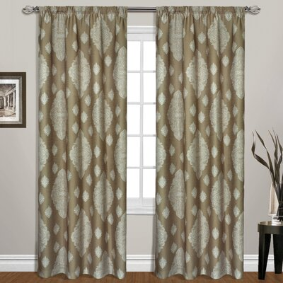 United Curtain Co. Belvedere Rod Pocket Curtain Single Panel