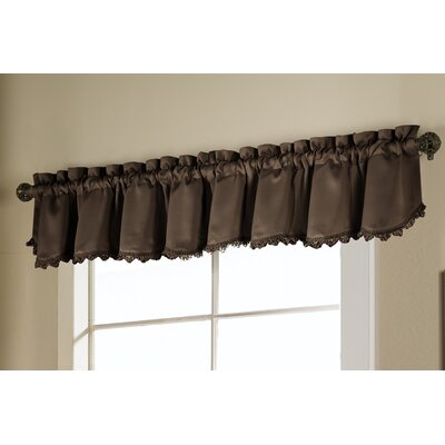 United Curtain Co. Rod Pocket Ruffled Curtain Valance