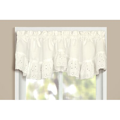 United Curtain Co. Vienna Rod Pocket Ruffled Curtain Valance