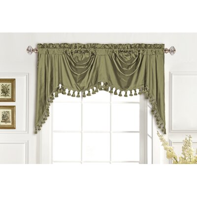 United Curtain Co. Dupioni Silk Rod Pocket Swag Curtain Valance