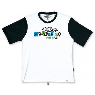 Hyperflex Wetsuits Ransom Short Sleeve Water Tee in White / Black