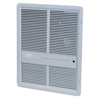 TPI Fan Forced Single - Pole 10,240 BTU ( 240v ) Wall Heater w/o Summer Fan Switch