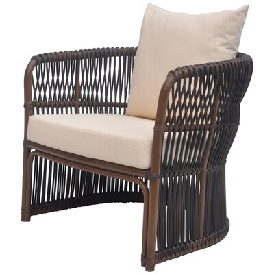 David Francis Furniture Tahiti Deep Seating Chair with Cushions