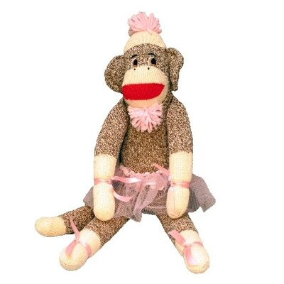 "Ozark Mountain Kids ""Isabella Ballerina"" Sock Monkey"