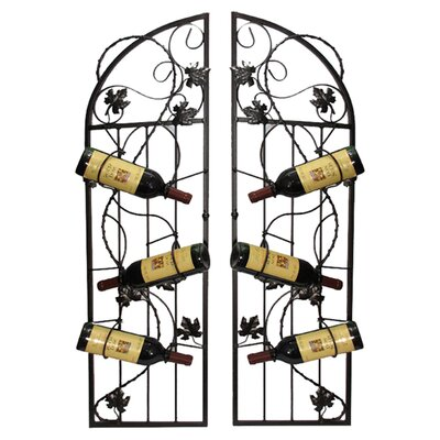 <strong>Metrotex Designs</strong> French Vineyard 6 Bottle Wine Rack (Set of 2)