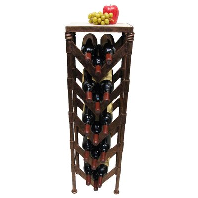 Metrotex Designs Industrial Evolution 15 Bottle Wine Rack