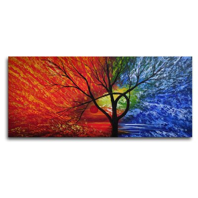 "My Art Outlet Hand Painted ""An Eye on the Prize"" Canvas Wall Art - 16"" x 36"""