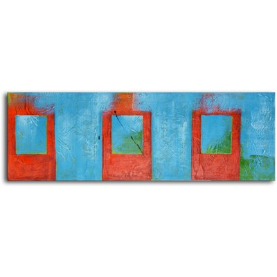 "My Art Outlet Hand Painted Modern Oil Painting ""Iced Tea"" Canvas Wall Art"