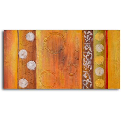"My Art Outlet Hand Painted ""Embossed Gold Bubbles"" Oil Canvas Art"