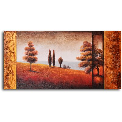 "My Art Outlet Hand Painted ""Headed to The Valley"" Oil Canvas Art"