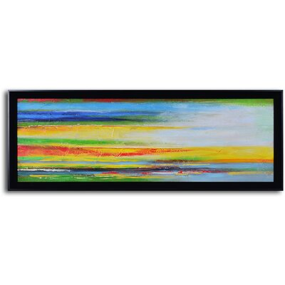 My Art Outlet ''Color Strategy Canvas'' Hand Painted Framed Art