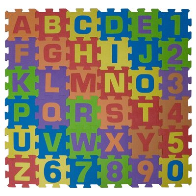 Home Decor Inc. Alphabet and Numbers Connect-A-Playmat