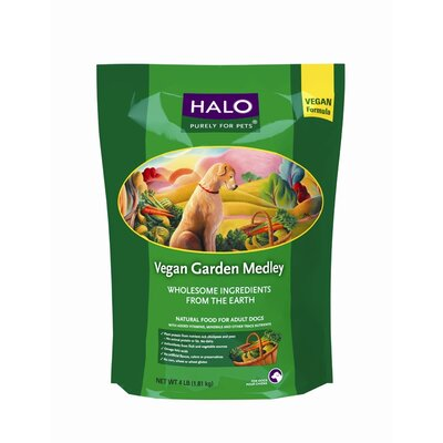 Halo Pets Spot's Choice Vegan Garden Recipe Dry Dog Food (4 lbs Bag)